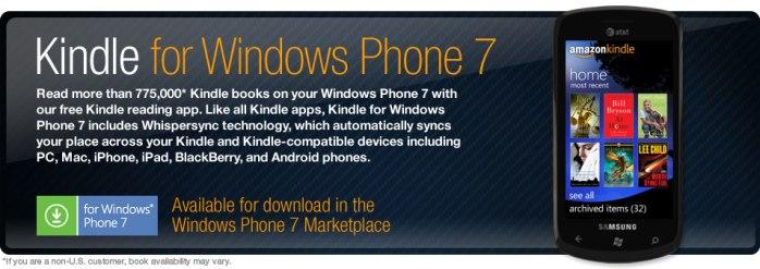 Kindle for Windows Phone 7