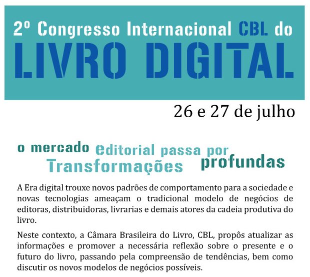 2º Congresso Internacional CBL do Livro Digital