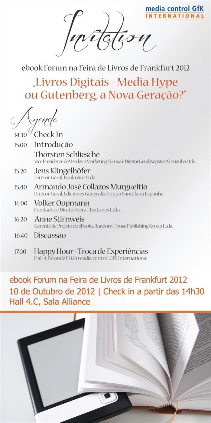 Convite para eBook Forum em Frankfurt