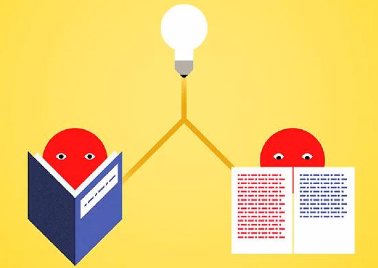 Imagem do vídeo de apresentação do site Duolingo, cuja ideia é ensinar idiomas por meio da tradução de textos