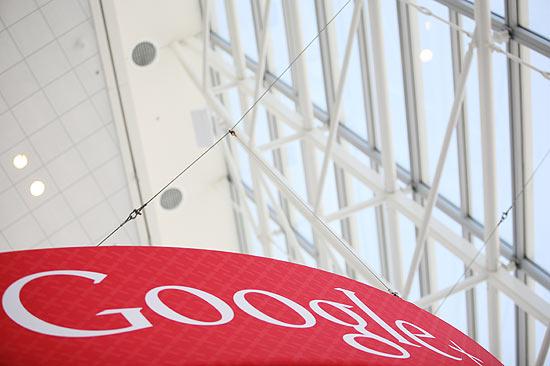 Logotipo do Google em San Francisco; empresa chegou a acordo em relação a direitos autorais de livros