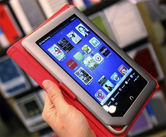 O tablet Nook, da Barnes & Nooble, que terá serviço de streaming de vídeos e filmes para concorrer com o Kindle