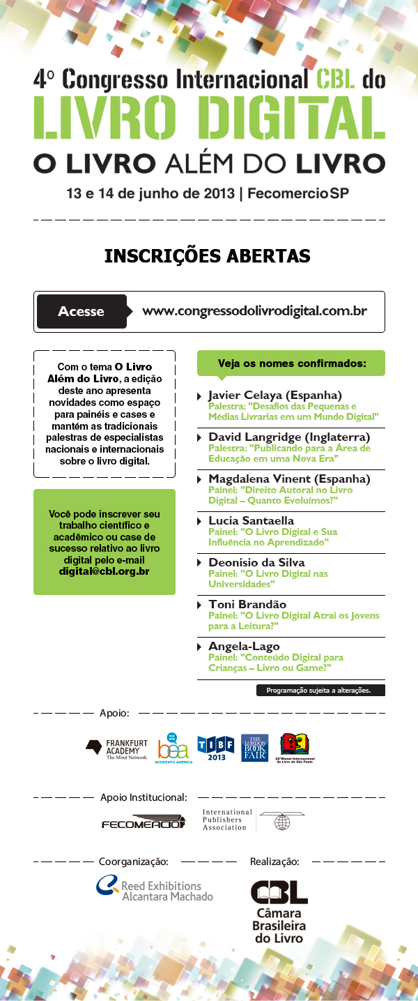 4º congresso Internacional CBl do Livro Digital