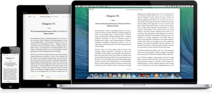 Quando o leitor compra um livro em seu Mac, o iCloud envia automaticamente para todos os seus dispositivos com iOS. Se o leitor estiver lendo um livro no seu iPad e destacar um texto ou fizer anotações, encontrará tudo do jeito que deixou quando continuar a leitura no seu Mac ou iPhone. O iCloud até lembra em que página parou.