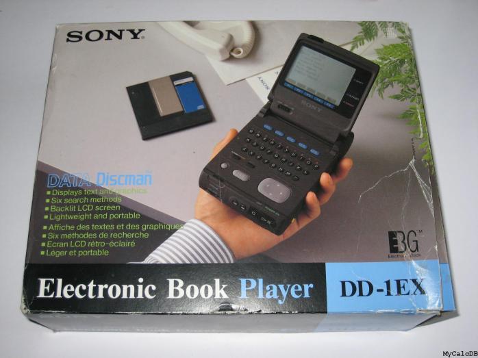 Há duas décadas, Sony lançava seu primeiro Electronic Book Player. Foto: Sony Data Discman modelo DD-1EX]