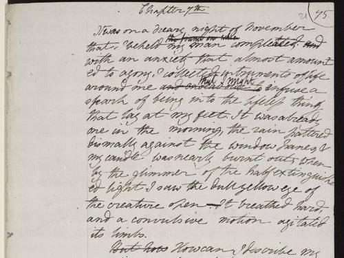 Página do manuscrito de 'Frankenstein', de Mary Shelley The New York Public Library/Shelley-Godwin Archive  Leia mais sobre esse assunto em http://oglobo.globo.com/cultura/manuscrito-de-frankenstein-ganha-vida-em-arquivo-online-dos-shelley-10614320#ixzz2jKEIN61q  © 1996 - 2013. Todos direitos reservados a Infoglobo Comunicação e Participações S.A. Este material não pode ser publicado, transmitido por broadcast, reescrito ou redistribuído sem autorização.