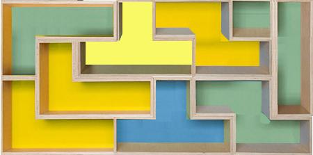 Figura geométrica formada pelos poliminós da capa do livro do Professor Silvio Meira