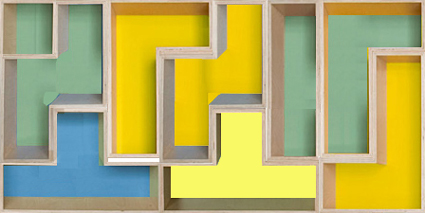 Figura geométrica formada pelos poliminós da capa do livro do Silvio Meira