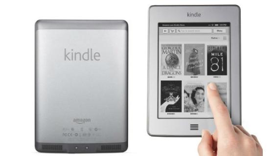 Ainda em 2011, a Amazon supreendeu o mercado ao lançar um leitor de livros digitais com tela totalmente sensível ao toque. O Kindle Touch Wi-Fi chegou ao mercado por 139 dólares, com seus 4 GB de memória e tela de 6 polegadas. A versão 3G, com a mesma configuração, custava 189 dólares.