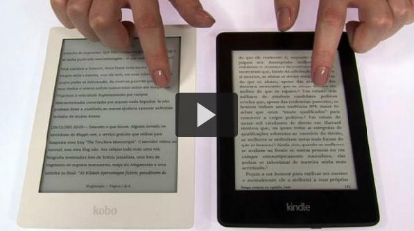 Leves e compactos, o Kindle Paperwhite, vendido pela Amazon, e Kobo Aura HD, vendido pela Livraria Cultura, ganharam telas aprimoradas e novos recursos além do acesso a milhões de livros digitais.
