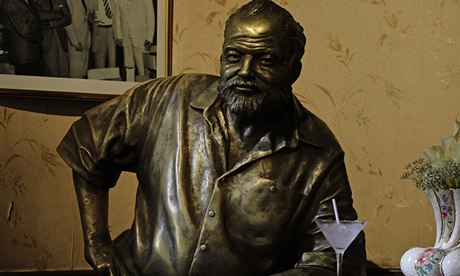 Lasting image … a bronze staue of Ernest Hemingway in the Floridita bar in Havana. Photograph: Desmond Boylan/Reuters/Corbis
