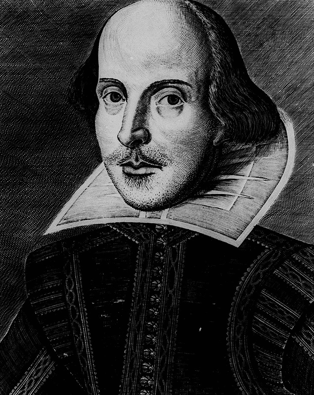 Retrato de William Shakespeare, maior dramaturgo de língua inglesa