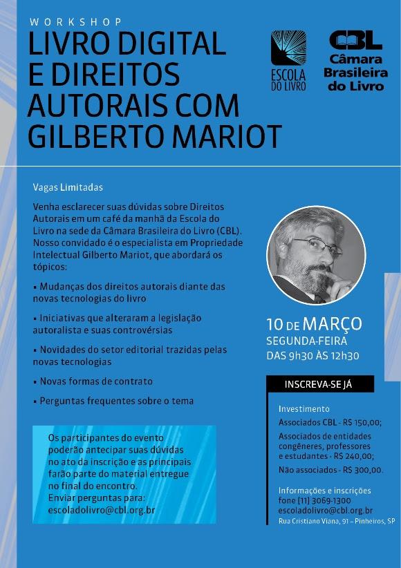 Livro Digital e Direitos Autorais com Gilberto Mariot