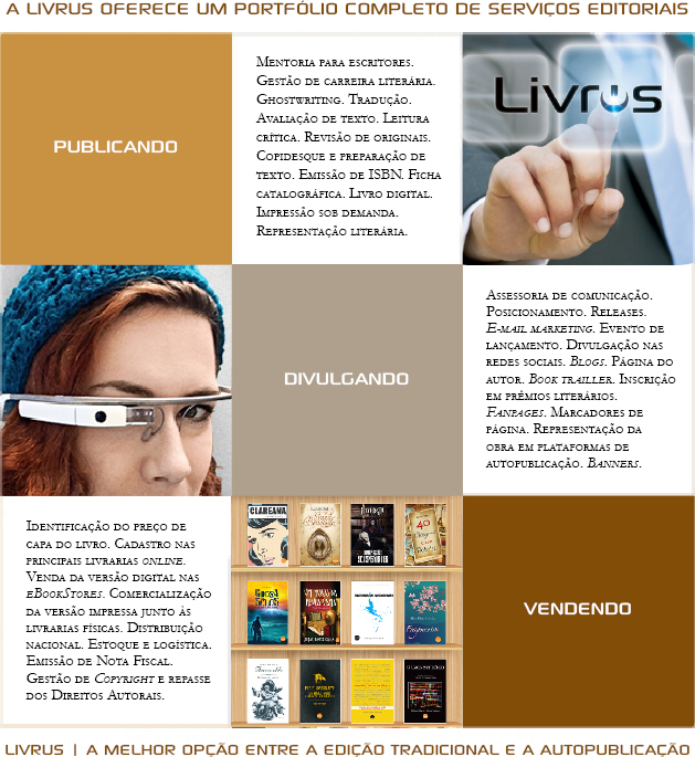 A LIVRUS oferece um portfólio completo de serviços editoriais