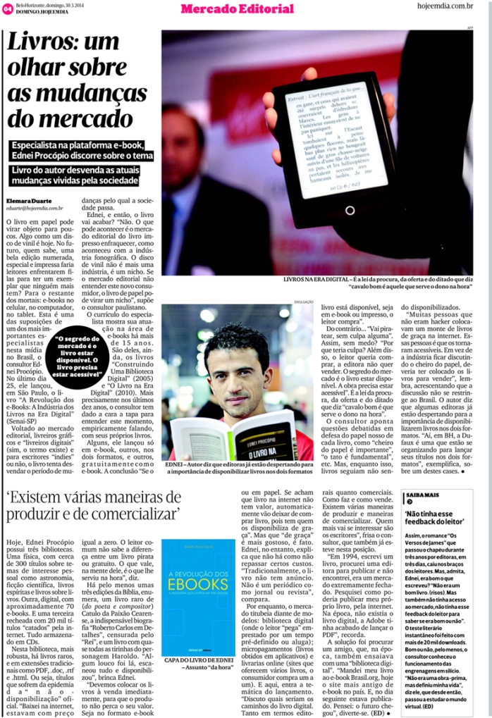 Jornal Hoje em Dia, domingo, 30/03/2014