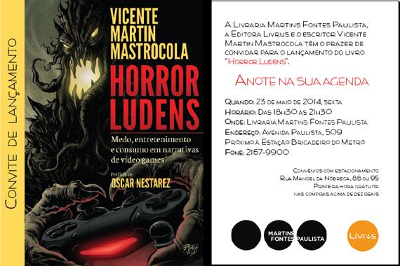 EDITORA LIVRUS LANÇA HORROR LUDENS