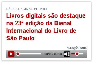 Livros digitais são destaque na 23ª edição da Bienal Internacional do Livro de São Paulo