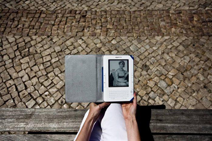 O Kindle da Amazon é um dos aparelhos mais usados para a leitura de livros electrónicos Rui Gaudêncio