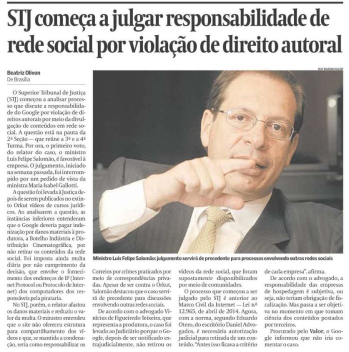 STJ começa a julgar responsabilidade de rede social por violação de direito autoral