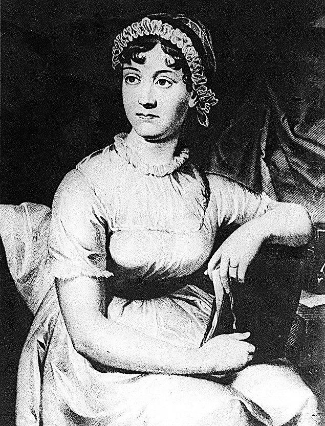 A escritora inglesa Jane Austen
