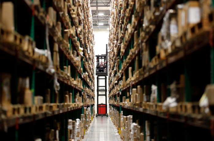 Penguin Random House last year doubled the size of its distribution center in Crawfordsville, Ind., to speed up book distribution. Credit A J Mast for The New York Times