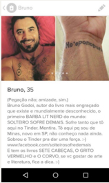 Printscreen do perfil do autor no Tinder