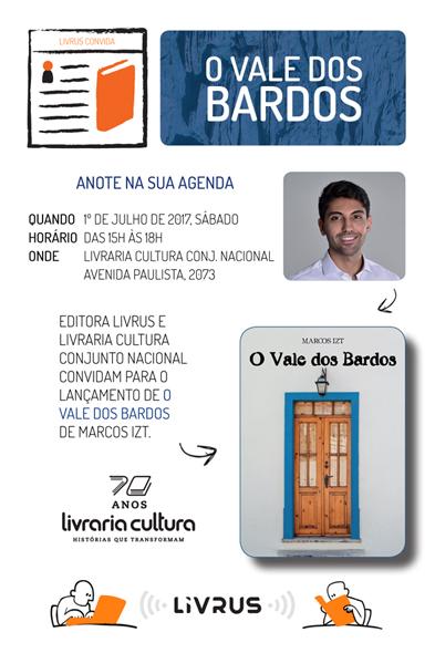 Convite Lançamento - O Vale dos Bardos - Livraria Cultura Conjunto Nacional-1